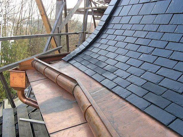 Английский способ укладки сланца на крыше