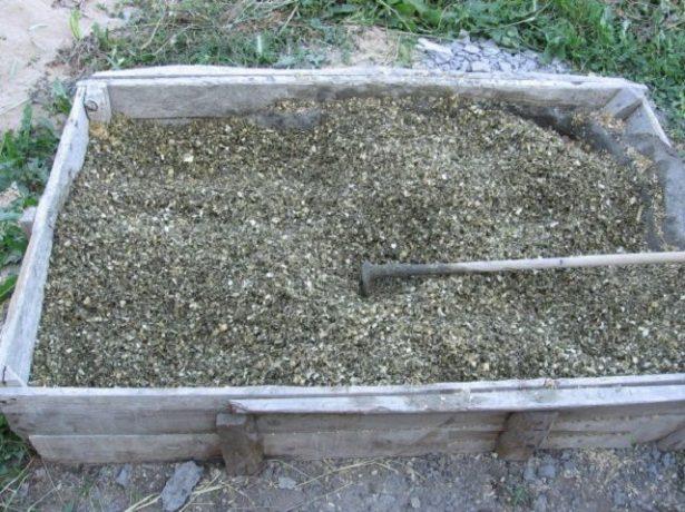 Опилочно-цементная смесь