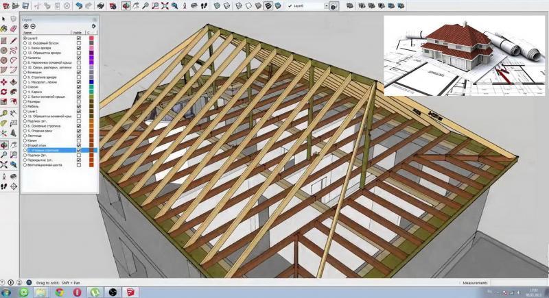 Стропильная система четырехскатной крыши: устройство, расчёт и монтаж своими руками