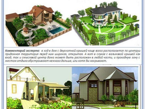 Сравнение многоскатной и двускатной конструкции с архитектурной точки зрения