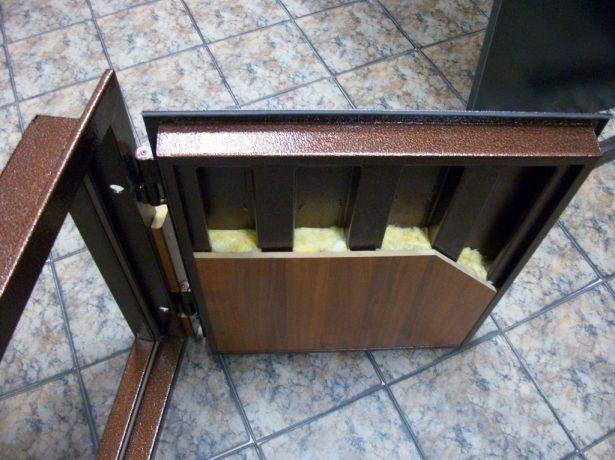 Образец устройства входной металлической двери