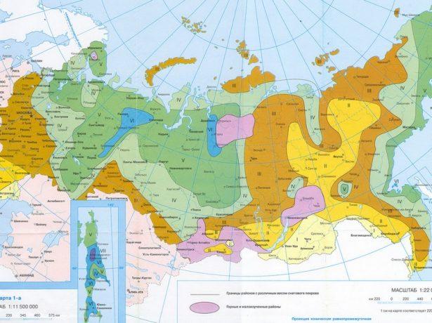 Карта зонирования РФ
