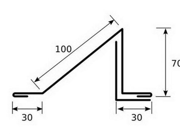 Схема уголкового элемента
