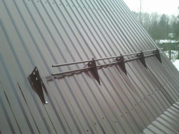 Неправильный расчёт материалов для снегозадержателей