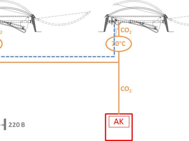 Схема установки фонаря дымоудаления