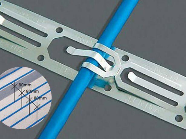 Монтажная полоса для крепления греющего кабеля