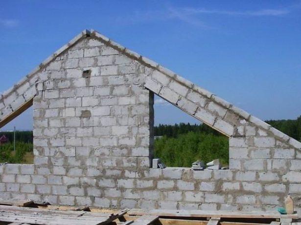 Выравнивание скатов фронтона