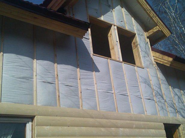 Вентилируемый фасад фронтона