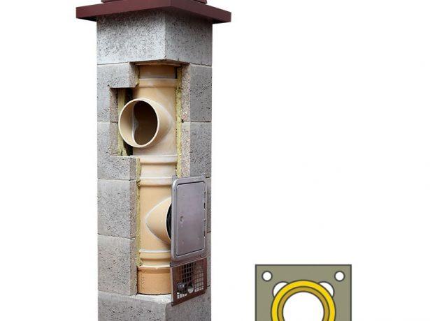 Схема установки керамической трубы в дымоходе