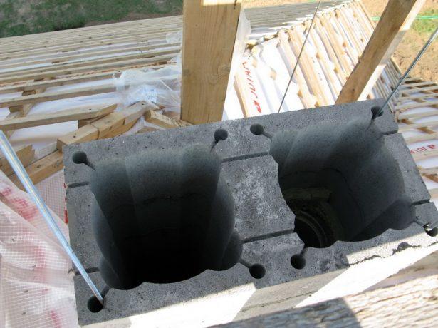 Бетонные блоки для дымохода
