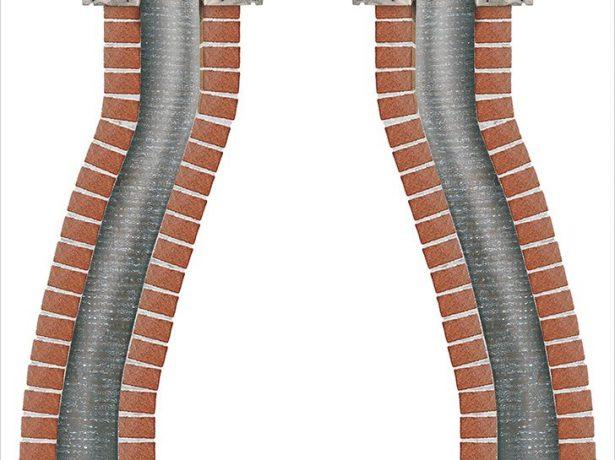 Схема реставрации гофрированного дымохода