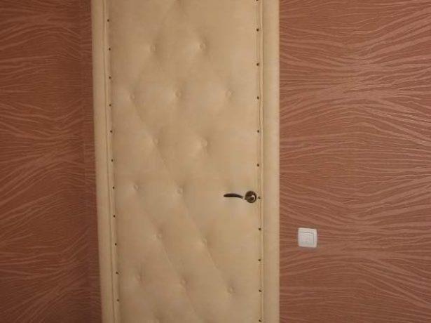Двери с кожзаменителем