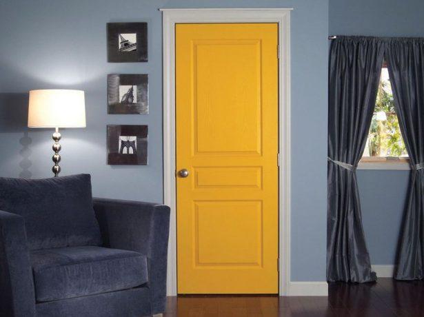 Крашеная межкомнатная дверь