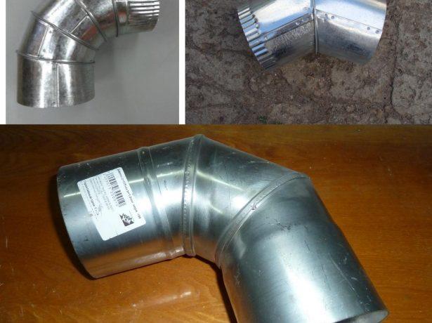 Разные виды колен для дымоходной трубы