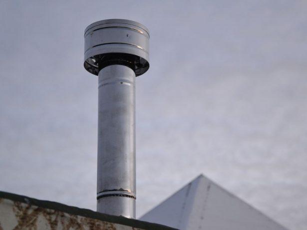 Дефлектор на дымовой трубе