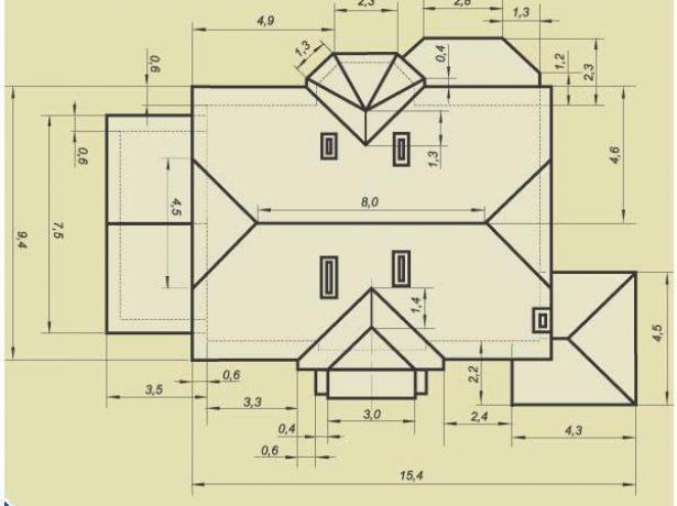 Детальный план крыши