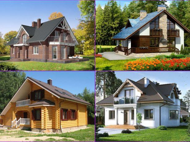 Виды мансардных домов