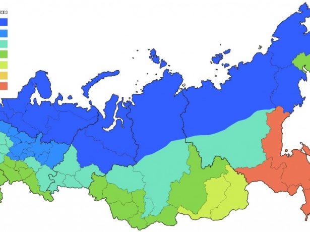 Световые зоны Российской Федерации