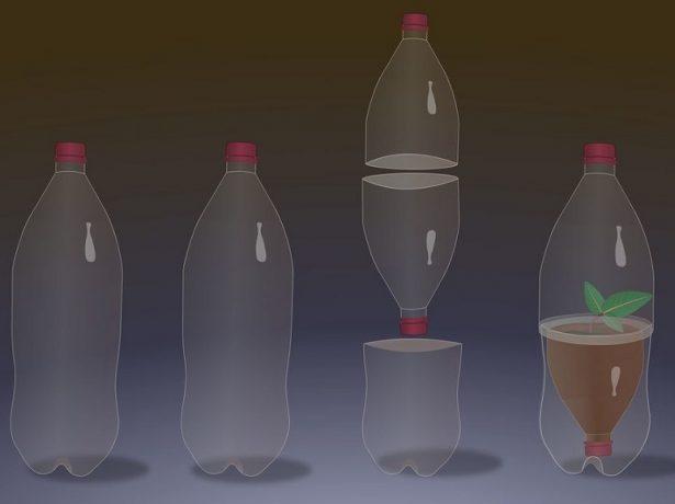 Вертикальный парник из бутылки