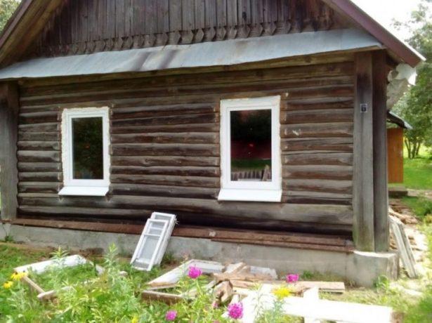 Окна в садовом домике