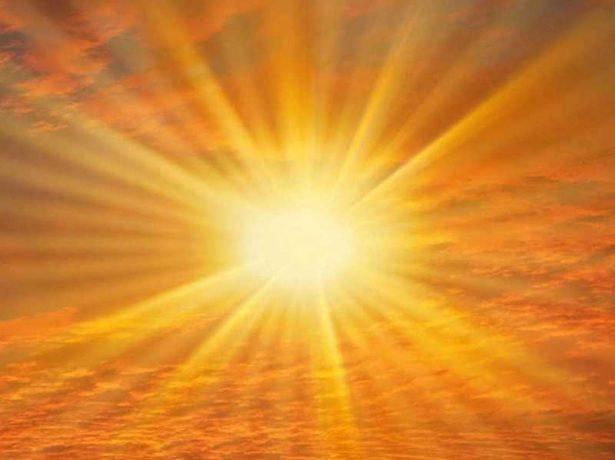 солнце на небе