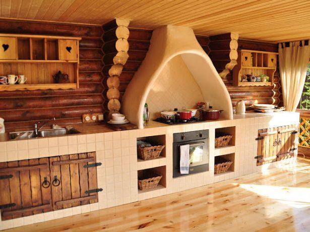 Кухня на закрытой веранде