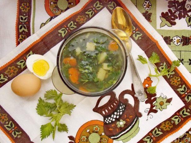 Тарелка супа с крапивой