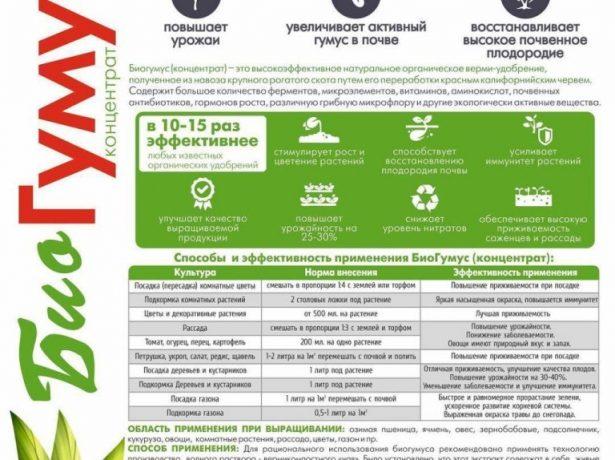 Инструкция по использованию биогумуса